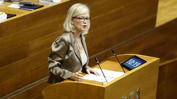 Imagen de archivo de la consellera de Justicia, Gabriela Bravo, tomada en las Cortes Valencianas