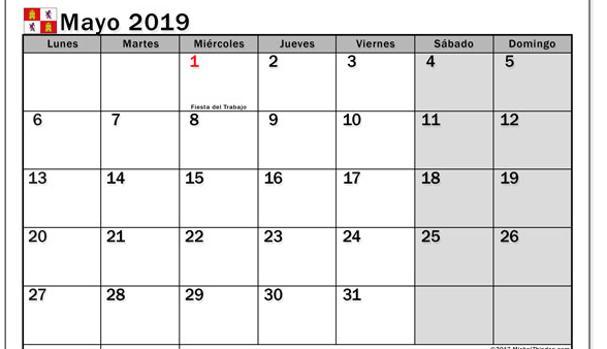 Calendario 2019 Castilla Y Leon.Los Lunes 7 De Enero Y 9 De Diciembre Seran Festivos En Castilla Y