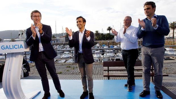 Feijóo, Rey Varela, Tellado y Diego Calvo, este viernes en Ferrol