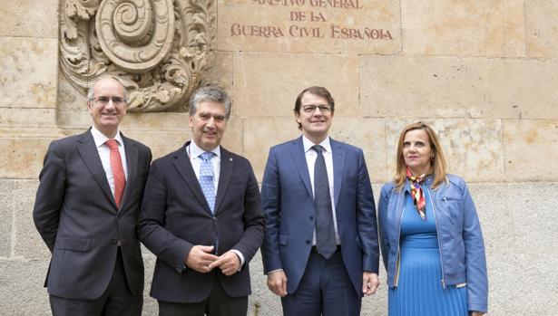 Javier Iglesias, Ignacio Cosidó, Alfonso Fernández Mañueco y Ester Brio