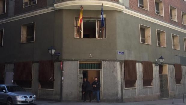 Puerta de entrada al nuevo edificio okupado por Hogar Social