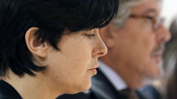 Primer plano de Porto durante el juicio por el asesinato de su hija