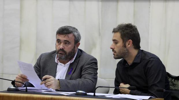 Los dos diputados provinciales del grupo de Compromís en Alicante