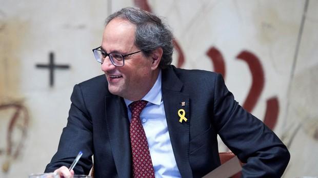 El presidente de la Generalitat, Quim Torra, con Su Majestad el Rey Don Felipe