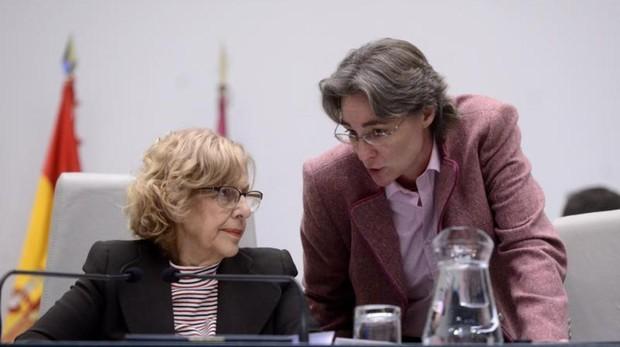 Carmena e Higueras en el Pleno del Ayuntamiento