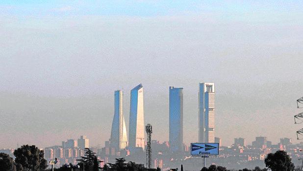 «Boina» de contaminación sobre Madrid