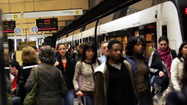 Imagen de archivo de una huelga del Metro de Valencia