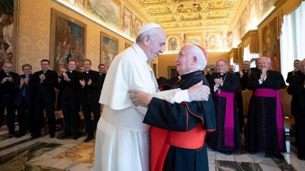 Imagen de la audiencia del Papa Francisco al cardenal Cañizares del pasado mes de septiembre