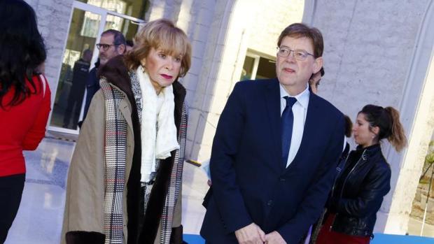 Puig y la exministra Teresa Fernández de la Vega, en el acto de Casa Mediterráneo de este miércoles en Alicante