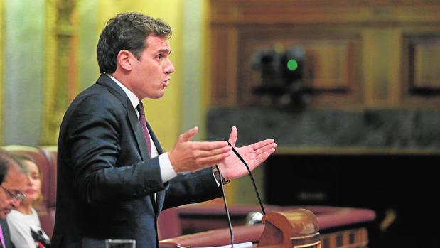 Albert Rivera, ayer en el último Pleno de la legislatura