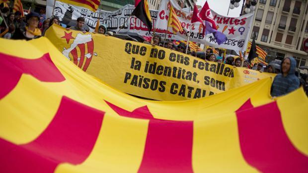 Manifestación organizada por la ACPV