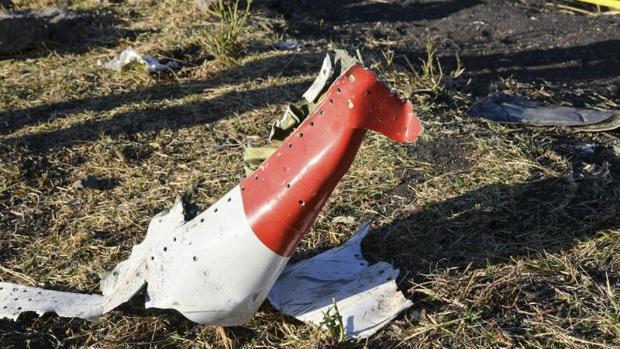 Restos del avión sinistrado en Etiopía