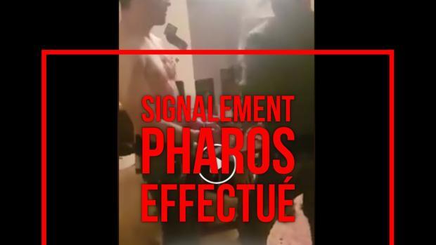 Imagen del vídeo difundida por la Policía francesa para pedir a los usuarios que eviten compartirlo