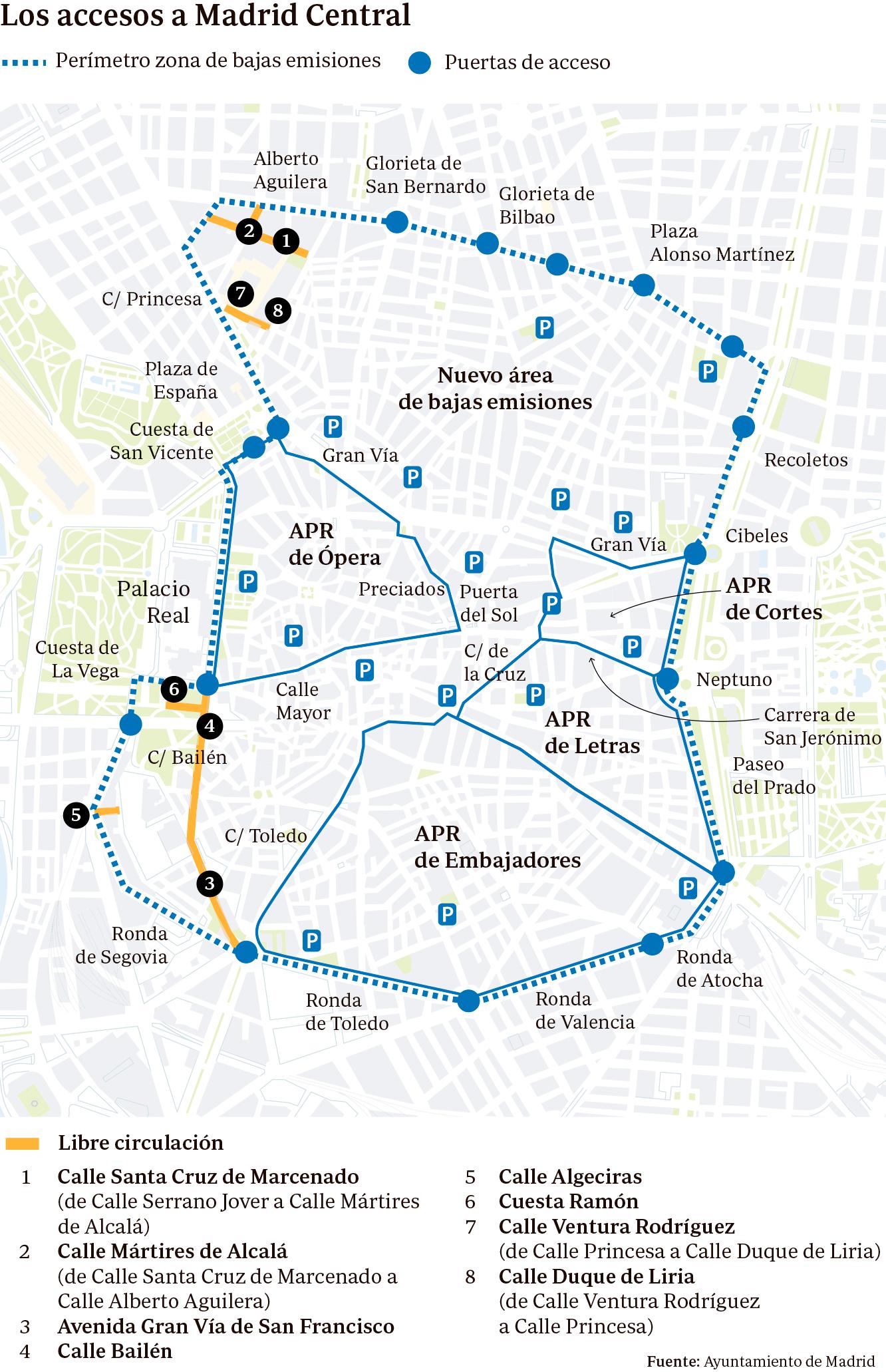 Mapa Centro De Madrid.Madrid Central Entra En Vigor Guia Para Circular Por El