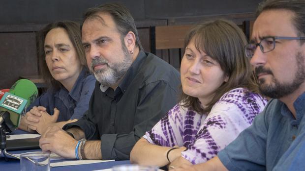 Helena Galán, Javier Mateo, Eva Jiménez y Diego Mejías, los cuatro concejales de Ganemos