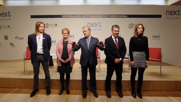 Pablo Fernández, Isaura Leal, Manuel Campo Vidal, Ignacio Cosidó y Aurora Nacarino-Brabo