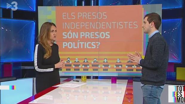 Un programa de TV3 con el término «presos políticos»