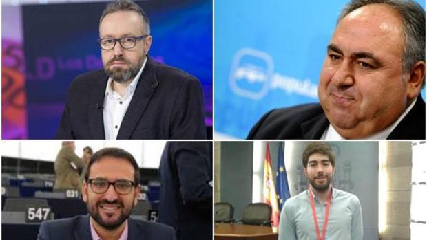 Girauta, de Ciudadanos, Tirado, del PP, Gutiérrez del PSOE, y Manuel Mariscal, de VOX