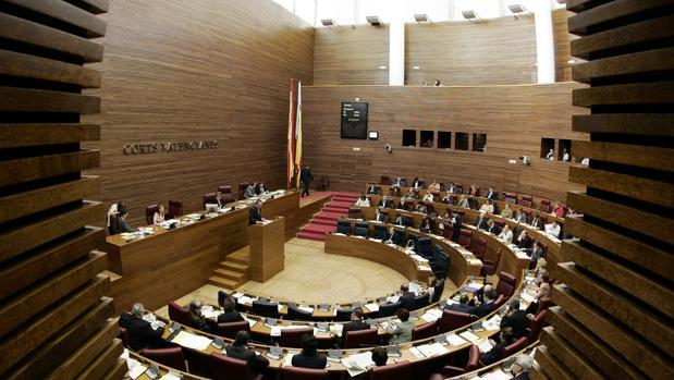 Imagen de archivo de las Cortes Valencianas en la pasada legislatura, la novena