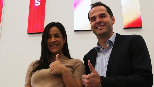 Begoña Villacís e Ignacio Aguado, en la sede de Ciudadanos