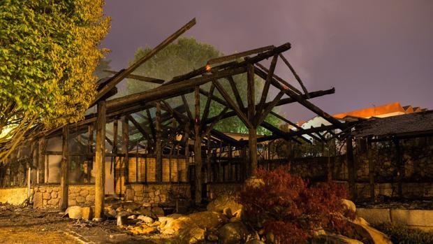 Estado en el que quedaron las instalaciones tras el incendio del 24 de abril
