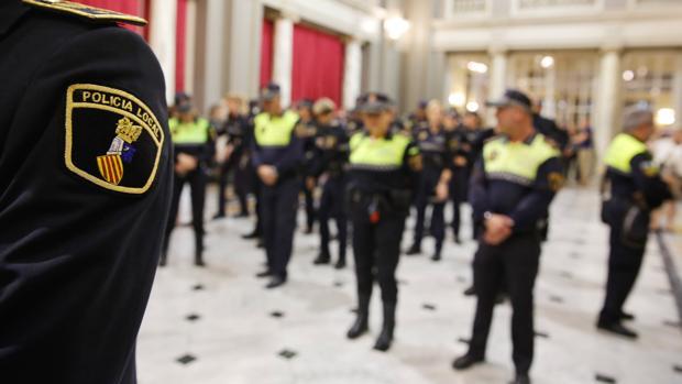 Imagen de archivo de agentes de Policía Local de Valencia