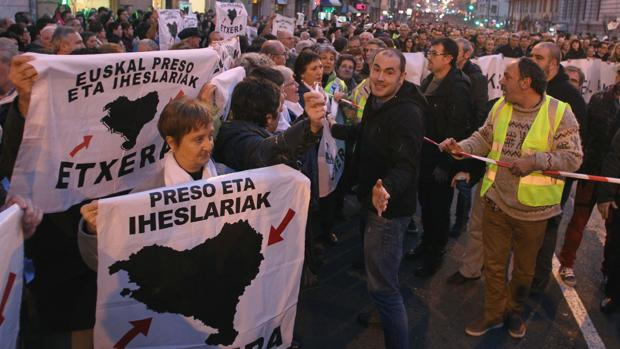 Manifestación de apoyo a los presos etarras