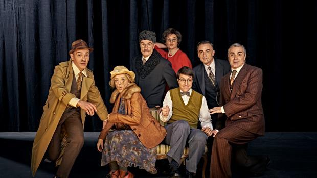 Algunos de los actores que protagonizan «Nekrassov», basada en una obra de Jean Paul Sastre