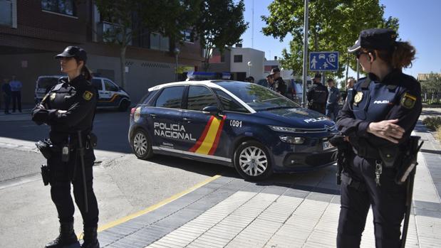 Los detenidos acudieron a declarar al juzgado de Huesca en medio de un fuerte dispositivo policial