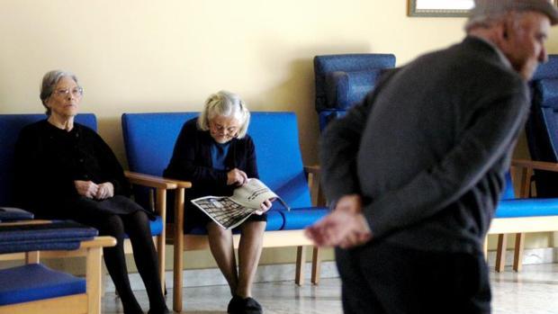 Ancianos en un centro de la provincia de Orense