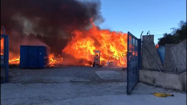 Imagen del incendio en Alicante