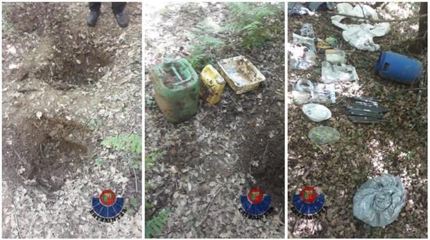 Imágenes del zulo de ETA hallado este viernes en Arraia-Maeztu