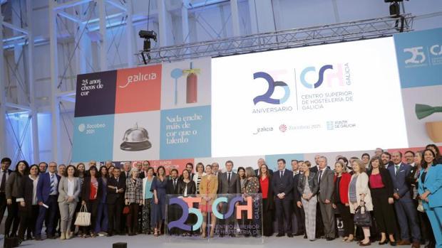 Acto de celebración del aniversario del Centro Superior de Hostelería de Galicia