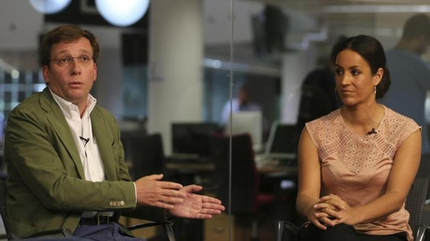 Almeida y Villacís, en un debate organizado en ABC en mayo de 2017