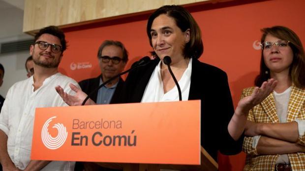 Ada Colau, el viernes tras anunciar el resultado de la consulta interna
