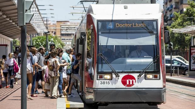 Imagen de archivo del tranvía de Valencia