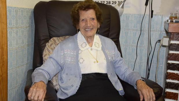 Clotilde Veniel, la mujer de 107 voluntaria de Cáritas