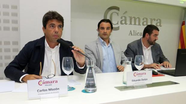 Carlos Mazón y Eduardo Dolón en una rueda de prensa reciente