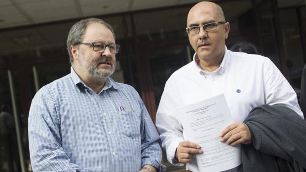 Rueda de prensa de Barbero y Andrés Serrano sobre la gestión de la Policía Municipal en 2015