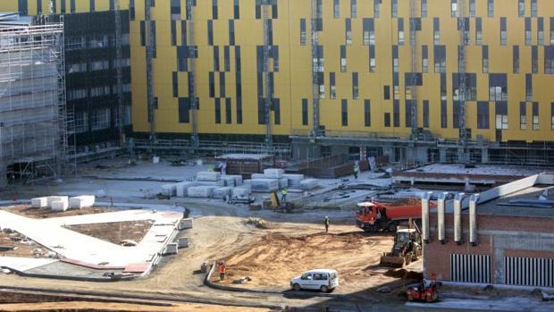 Imagen de hace unos meses de las obras del nuevo hospital