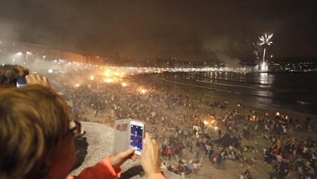 Una noche de San Juan en La Coruña