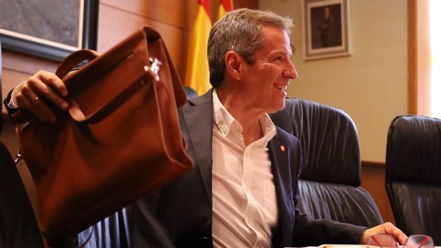 Daniel Pérez presidió este martes una reuníon de su grupo parlamentario en las Cortes de Aragón