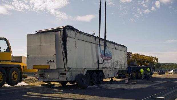 Un camión accidentado, en una imagen de archivo
