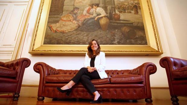 La alcaldesa de La Coruña, Inés Rey en el Pazo de María Pita