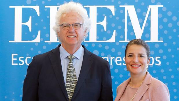 Álvaro Gómez-Trénor, consejero de Coca-Cola European Partners, y Hortensia Roig, presidenta de EDEM.