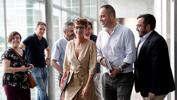 María Chivite al inicio de las negociaciones para formar Gobierno