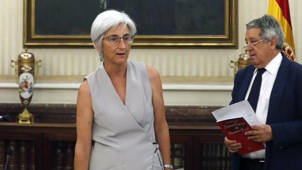 María José Segarra toma posesión de su cargo como fiscal general del Estado ante el Consejo Fiscal, el pasado julio