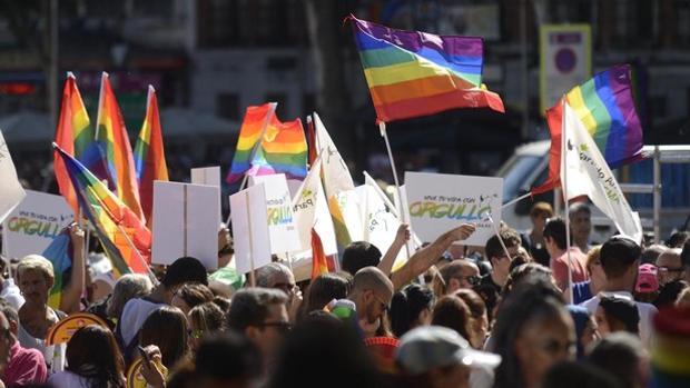 Banderas arcoíris durante la celebración del Orgullo Gay del año pasado