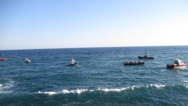Imagen del dispositivo desplegado en la isla de Tabarca