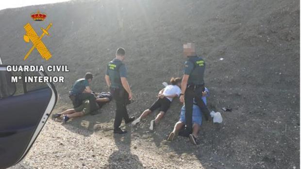 Momento de la detencción